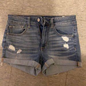 Hi rise shortie Jean shorts
